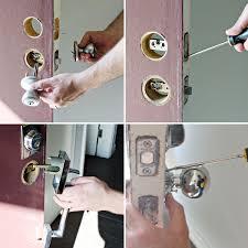 install entry door knob. changing door hardware an easy upgrade install entry knob r