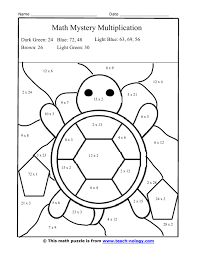 silly turtle multiplication puzzle math color by number worksheets free worksheet 7681024 free math puzzle worksheets worksheet on negative positive numbers worksheets