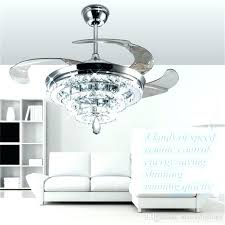 chandelier and fan ceiling fans with crystals led crystal chandelier fan lights invisible fan crystal ceiling