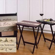 Decorative Tv Tray Tables Folding TV Trays You'll Love Wayfair 34