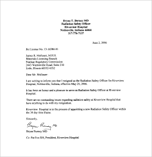 resigning letter example 8