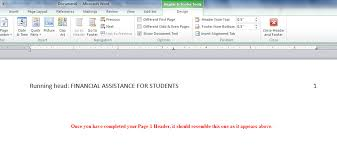 apa 6th edition header in ms word