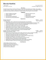 Group Fitness Instructor Resume Sample Template Personal Trainer ...