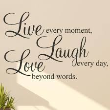 Live Laugh Love Quotes Live Laugh Love Quote Wall Sticker Parkins Interiors 1