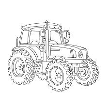 американский универсал John Deere Kleurplaat Tractor John Deere