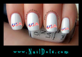 patriotic naildots