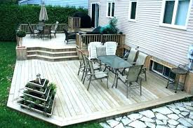 Backyard Decking Designs Mesmerizing Small Backyard Deck Ideas Deck With Patio Small Wood Deck Design