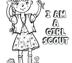 Girl Scout Daisy Coloring Pages Girl Scout Law Coloring Pages
