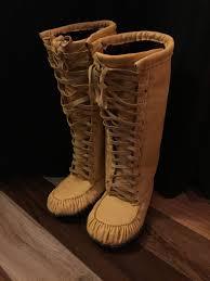 Mens Elk Hide Lace Up Mukluk Moccasin Boots Native