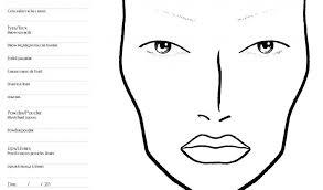 by size handphone tablet desktop original size back to face makeup template printable