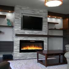 wall hung fireplaces chic and modern wall mount ideas for living room homebase wall hung fireplaces bowbox