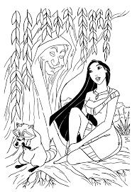 Coloriage Pocahontas Gratuit Imprimer Ancenscp