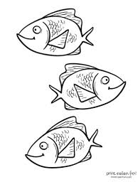 There are so many ways to teach our children about everything in this world. Top 100 Fish Coloring Pages Cute Free Printables Coloring Page Print Color Fun