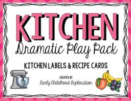 Recipe Labels Dramatic Play Kitchen Labels Recipe Cards