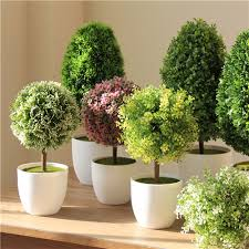 decorative plants for office. Artificial Plants Bonsai Tree Ball Fake Decoration Bouquet Grass Desktop Office Living Room Decor-in \u0026 Dried Flowers From Home Decorative For P