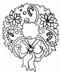 Christmas Wreath Coloring Pages Ps25 Christmas Wreaths Coloring