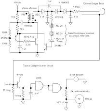 geiger counter circuits schematic