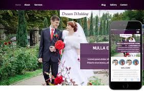 Free Wedding Website Templates Interesting Dream Wedding A Wedding Planner Flat Bootstrap Responsive Web