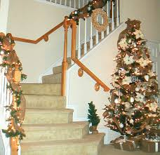 Full Image for Banister Christmas Decorations Decor Design Fabulous The  Banister Banquette Stair Banister Christmas Decorating ...
