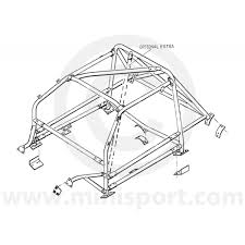 Rbn046 mini multipoint bolt in roll cage drawing