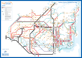 sydney new efforts at frequency mapping (guest post) human transit Northern Train Line Map northern sydney v1 northern train line map