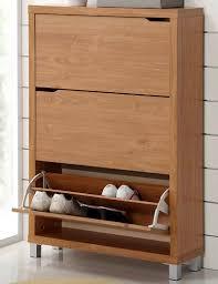 Shoe Cabinet with Doors Wood