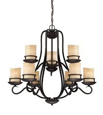 designers fountain 84789 ni lauderhill 9 light 32 inch natural iron chandelier ceiling light