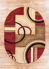 deco rings red geometric modern area rug abstract color block carpet contemporary area rugs by rug lots area rug warehouse