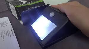 wireless led motion sensor light outdoor