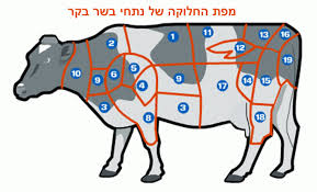 Cow Steak Chart Hebrew English Meat Guide For Israel Jamie Geller