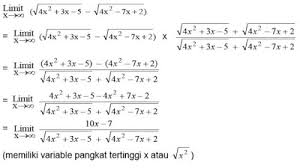 Metode video ini menampilkan bagaimana menjawab soal limit fungsi aljabar bentuk akar(akarnya berada. Limit Tak Hingga Fungsi Aljabar Materi Lengkap Matematika