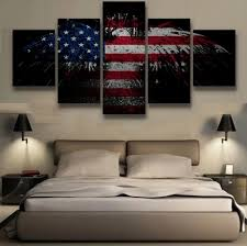 5 pieces canvas painting patriotic bald eagle wall art poster artwork modern canvas printed home decor on patriotic canvas wall art with 5 pieces canvas painting patriotic bald eagle wall art poster