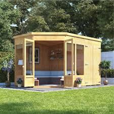 billyoh penton corner summerhouse with side summer houses garden buildings direct