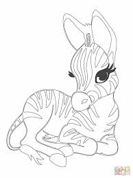 Small Picture Cute Baby Zebra Coloring Pages 43386 plaaco
