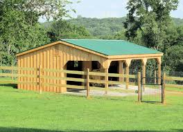 10 x32 horse barn with overhang