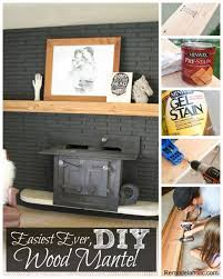how to make the easiest ever diy wood mantel remodelaholic fireplace black
