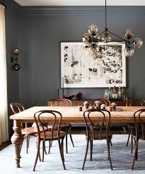 Astounding Antique Dining Room Sets Bassett Brown Wooden Dining Chairs  Wooden Rectangle Table Grey Wall Color