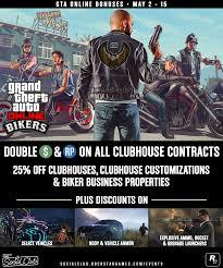 Gta 5 Biker Business Payout Chart This Week In Gta Online Biker Bonuses Vehicle Discounts