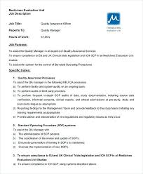 Quality Assurance Officer Job Description Quality Assurance