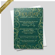 Green Leaf Invitation Holiday Party Invitations By 123print