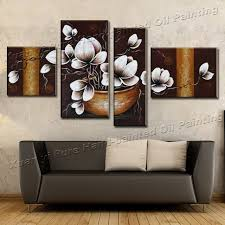 handmade 4 piece canvas wall art canvas modern art painting abstract orchid flower oil painting living on 4 piece canvas wall art with handmade 4 piece canvas wall art canvas modern art painting abstract