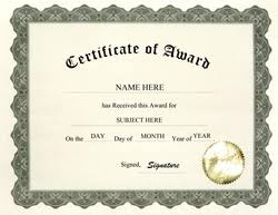 Certificate Of Recognition Wordings Award Certificates Diploma Word Templates Clip Art Wording