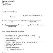 11 Leave Of Absence Letter Personal Reasons Proposal Agenda