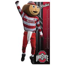 Ohio State Buckeyes Brutus Buckeye Mascot Growth Chart Life Size Officially Licensed Removable Wall Decal