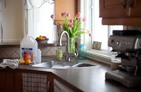 spring cleaning the kitchen homemade lemon scented cleaner