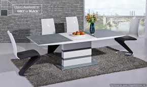 High Gloss Dining Table Lorgato Grey High Gloss Extending Dining Table 160cm To 220cm