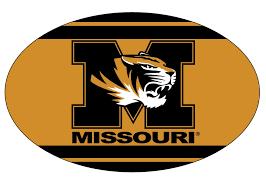 Mizzou Graphic Design Program Missouri Tigers Oval Stripe Design Magnet Mizzou Magnet New For 2016