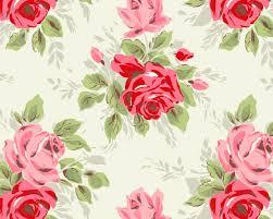 Vintage Floral Print Black And White Floral Print Wallpaper Wallpaper Vintage