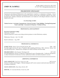 Phlebotomy Resume Examples Delectable Phlebotomist Certification 48 Phlebotomist Resume Sample Free