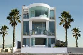 Story Modern House Plans   Modern Home Story Beach House Plans